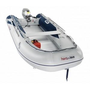 Barcă pneumatică cu podina din aluminiu Honda Honwave T40-AE2, 3.95 metri